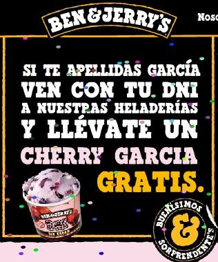 Ben Jerry helado gratis
